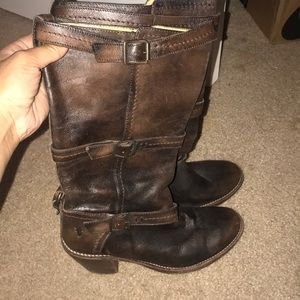 Distressed Frye boots